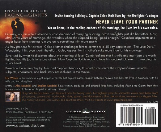 Fireproof Audiobook on CD