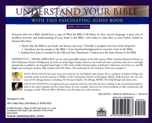 What The Bible Is All About: Abridged Audiobook on CD