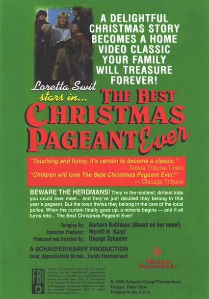 The Best Christmas Pageant Ever, DVD