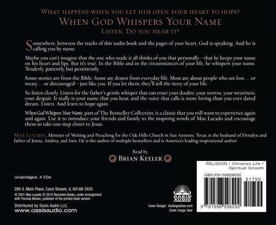 When God Whispers Your Name Unabridged Audiobook on CD