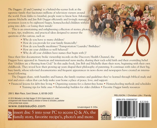 The Duggars: 20 and Counting!: Raising One of America's Largest FamiliesHow they Do It Unabridged Audio CD