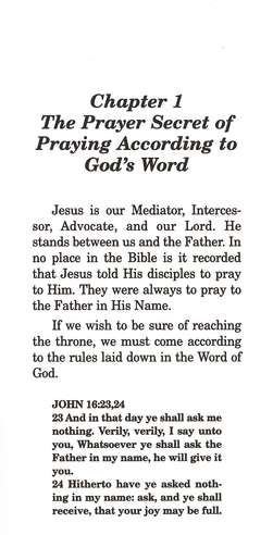 Prayer Secrets