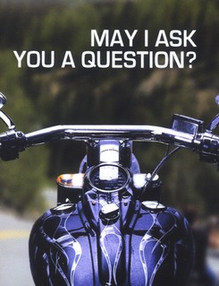 May I Ask You a Question? - Motorcycle  Pack of 25