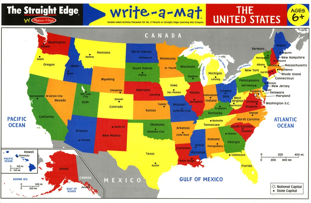 Melissa & Doug United States Write-a-Mat
