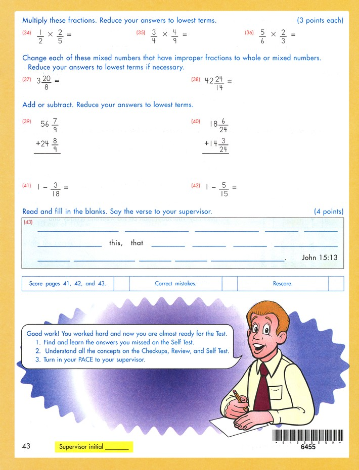 Latest Edition Math PACE 1055, Grade 5