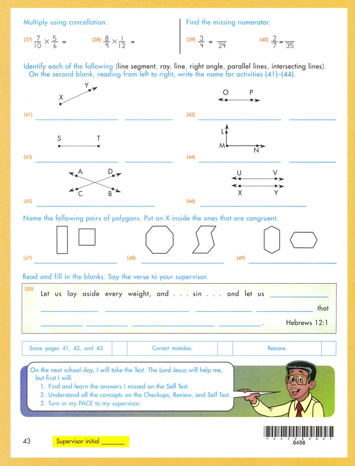 Latest Edition Math PACE 1056, Grade 5