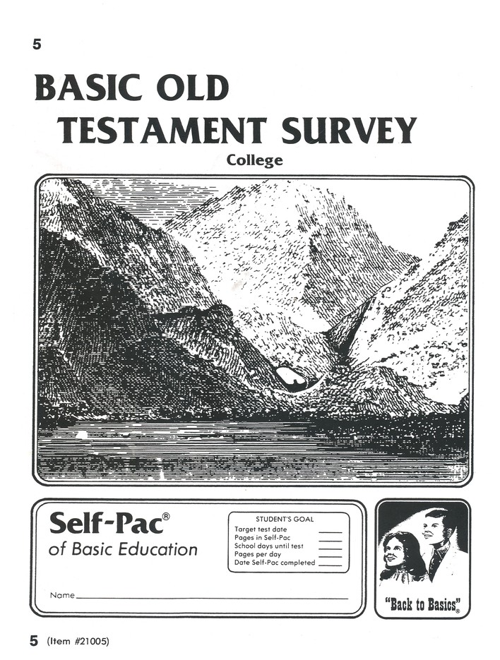 Old Testament Survey PACE 5, Grades 9-12