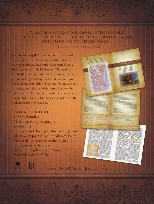 HCSB Study Bible, Brown/Tan Simulated Leather, Thumb-Indexed