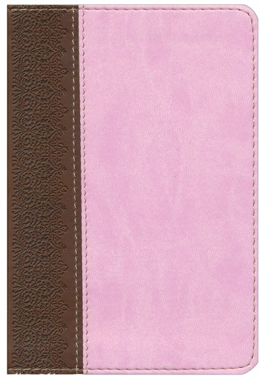 HCSB Large Print Compact Bible, Chocolate & Pink Simulated Leather