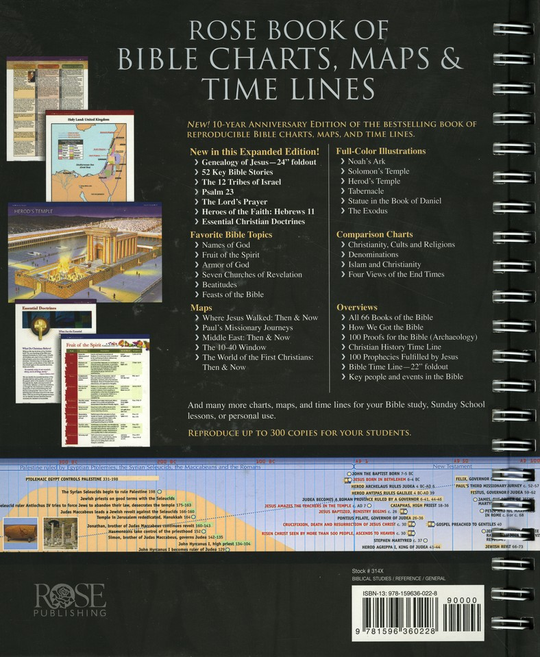 Rose Book Of Charts Maps Time Lines 10th Anniversary Edition 9781596360228