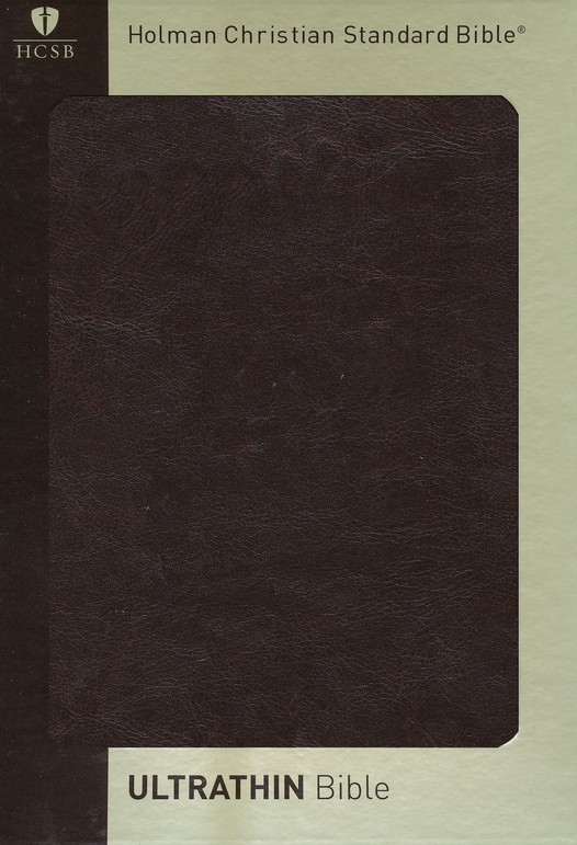 HCSB UltraThin Bible, Brown Simulated Leather