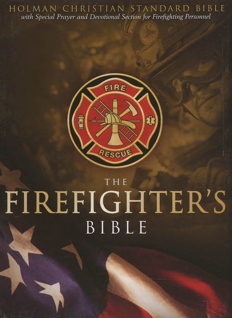 HCSB Firefighter's Bible, Red Simulated Leather