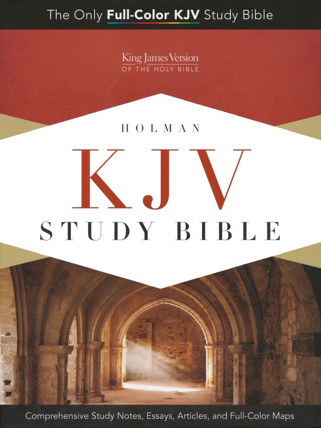 KJV Study Bible, Pink/brown soft leather-look