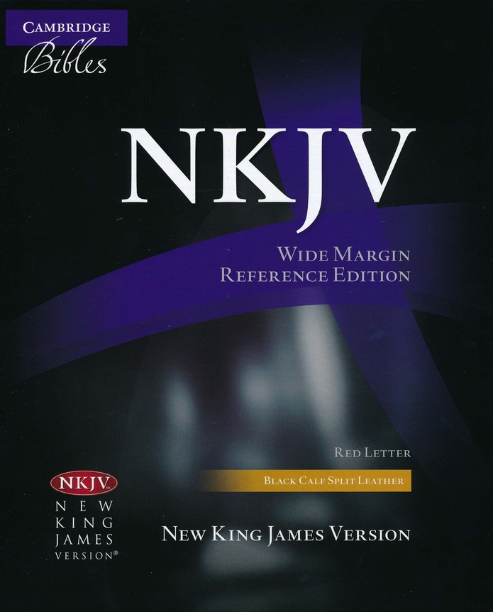 NKJV Wide-Margin Reference, Calf Split Leather, black