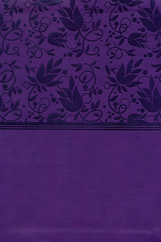 NKJV Giant Print Reference Bible, Purple LeatherTouch, Thumb-Indexed