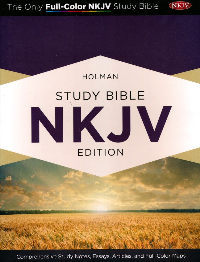 NKJV Holman Study Bible, Eggplant and Tan LeatherTouch, Thumb-Indexed
