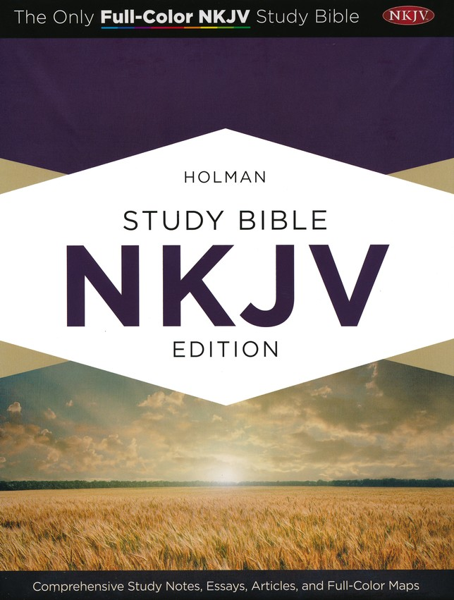 NKJV Holman Study Bible, Black Genuine Leather, Thumb-Indexed