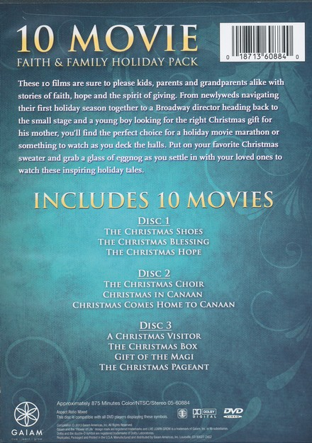 Faith & Family Holiday 10-Movie Pack, 3-DVD Set