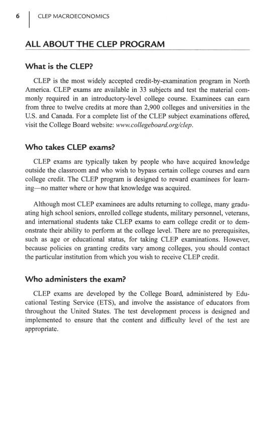 CLEP Principles of Macroeconomics with Online Practice Exams