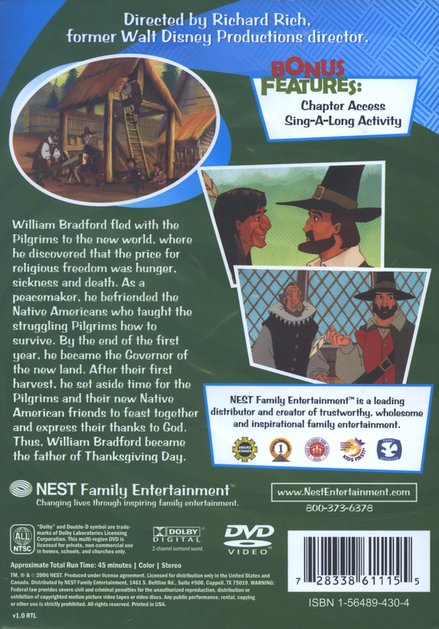 Inspiring Animated Heroes: William Bradford, DVD