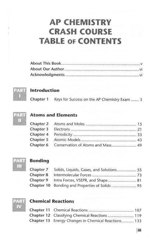 AP Chemistry Crash Course, 2nd Edition