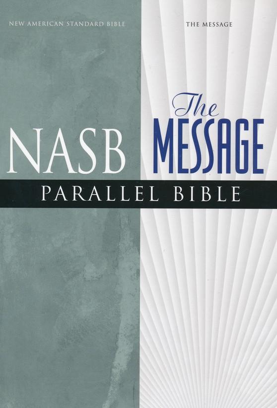 NASB Message Parallel Bible, Imitation Leather Black