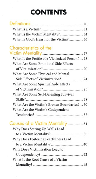 Victim mentality characteristics
