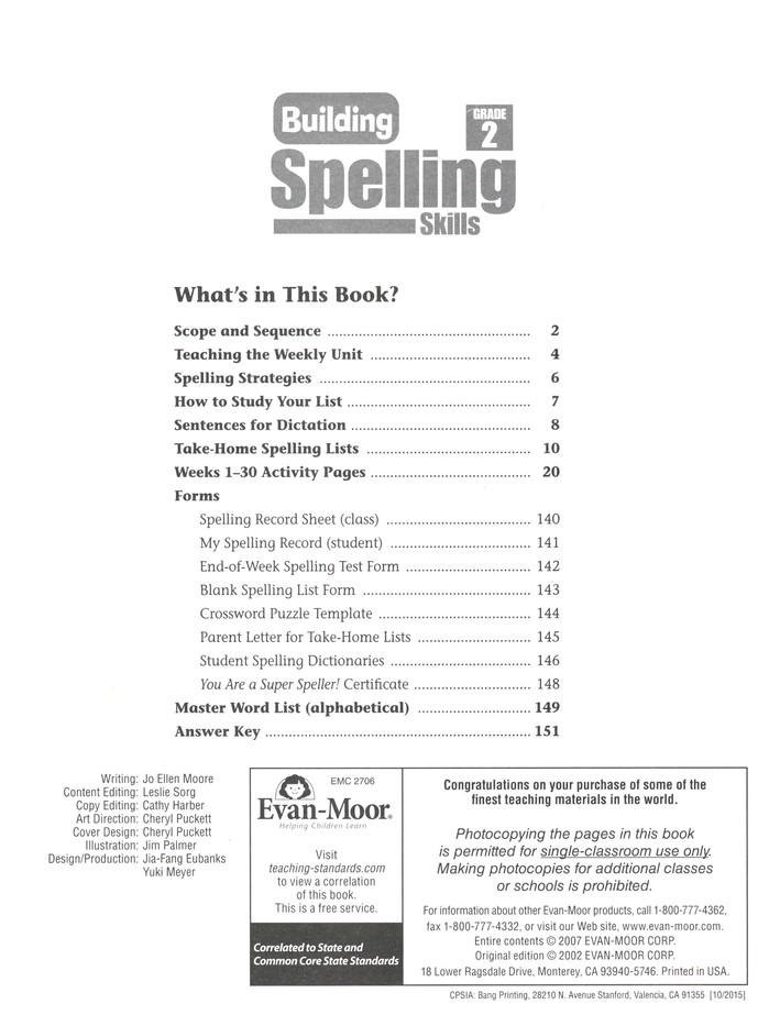 Building Spelling Skills, Grade 2: Homeschool: 9781557998408 ...