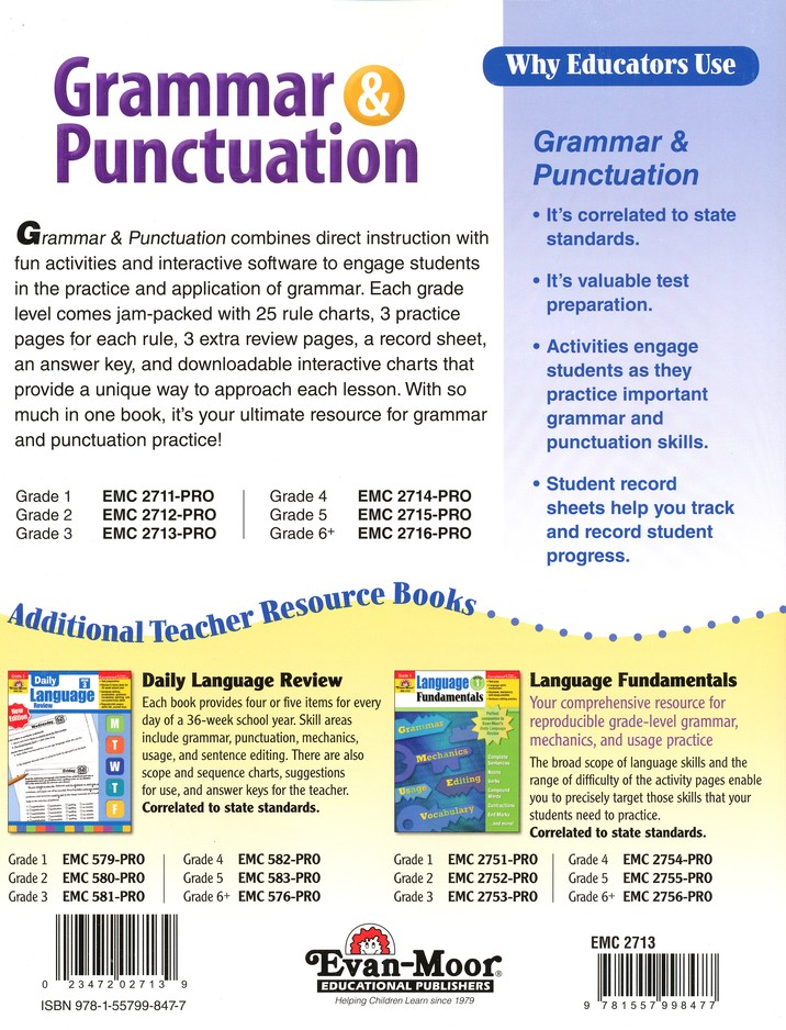 Grammar Punctuation Grade 3