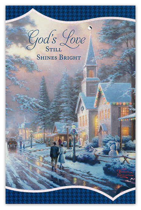 Thomas Kinkade Christmas.Thomas Kinkade God S Love Christmas Cards Box Of 18
