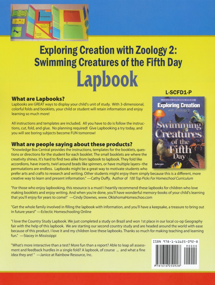 Apologia Exploring Creation with Zoology 2: Swimming  Creatures of the 5th Day Lessons 1-5 Lapbook