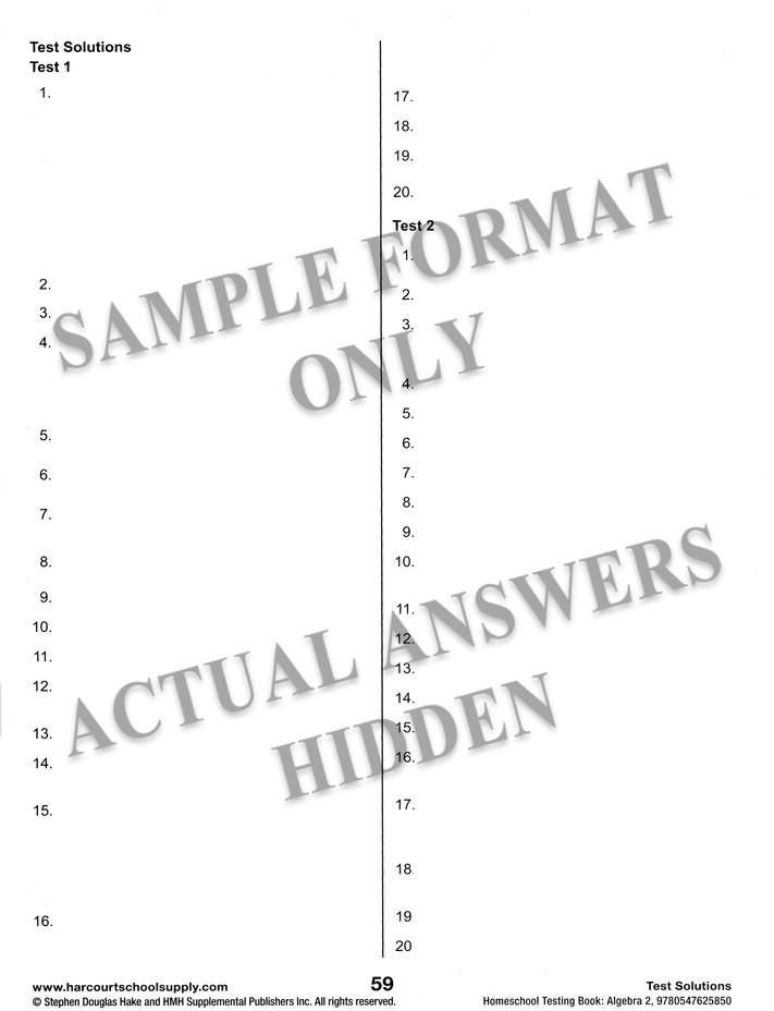 Saxon Algebra 2 4th Edition Homeschool Kit With Solutions Manual