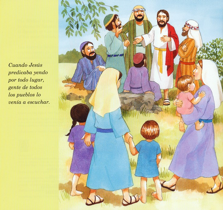 Jesús Bendice a los Niños, Bilingue  (Jesus Blesses the Children, Bilingual)