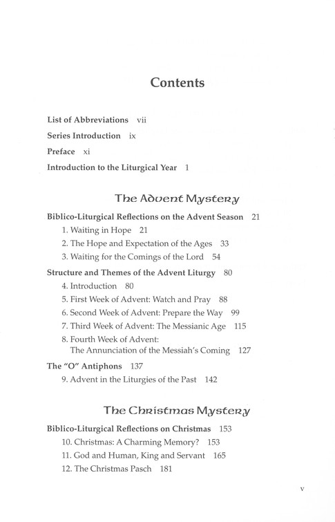 The Liturgical Year Volume 1: Advent, Christmas, Epiphany