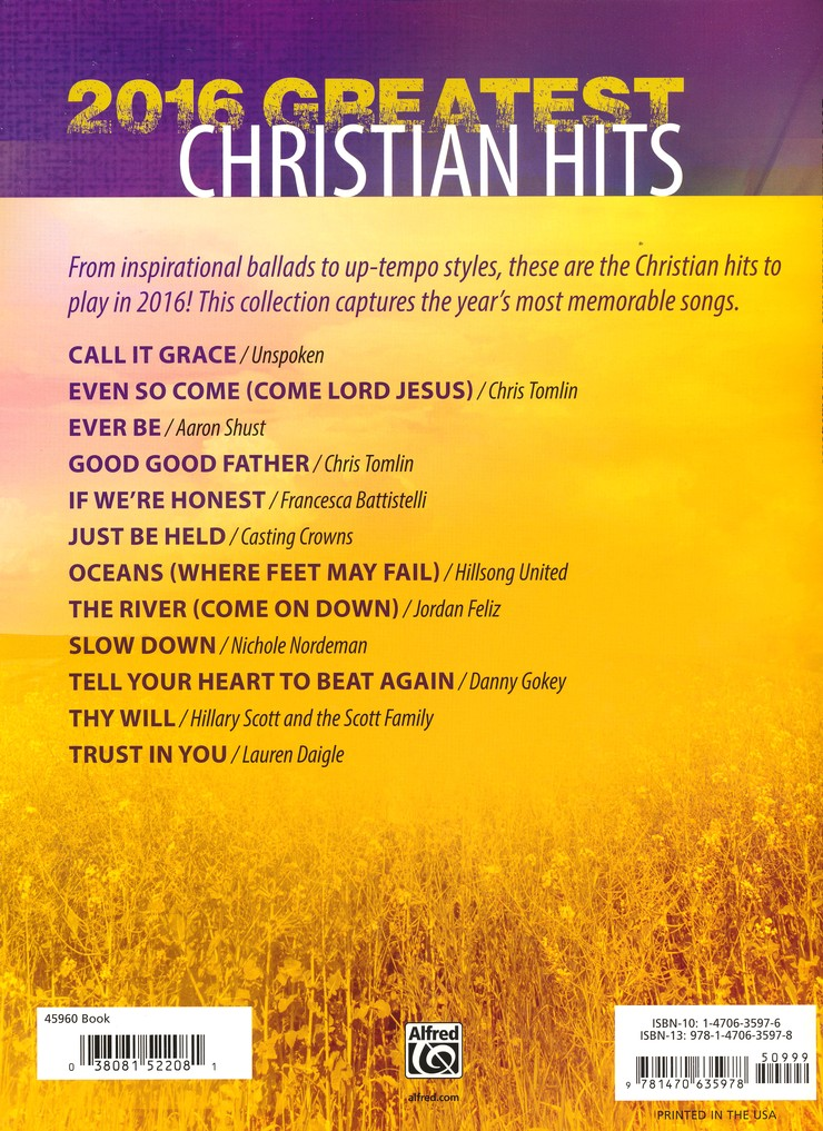 22f4108e2c2e 2016 Greatest Christian Hits  Deluxe Annual Edition  Carol Tornquist   9781470635978 - Christianbook.com