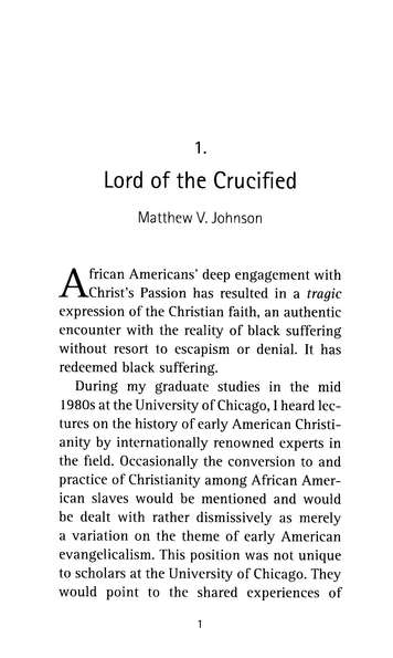 The Passion of the Lord: African American Reflections