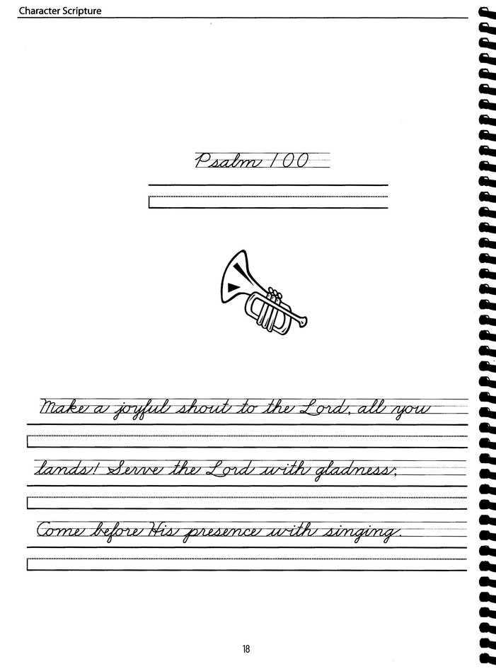 Scripture: Advanced Cursive, Zaner-Bloser Edition