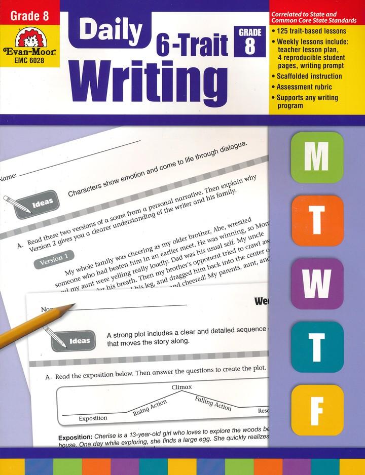 Daily 6 Trait Writing Grade 8 9781609638801 Christianbook Com