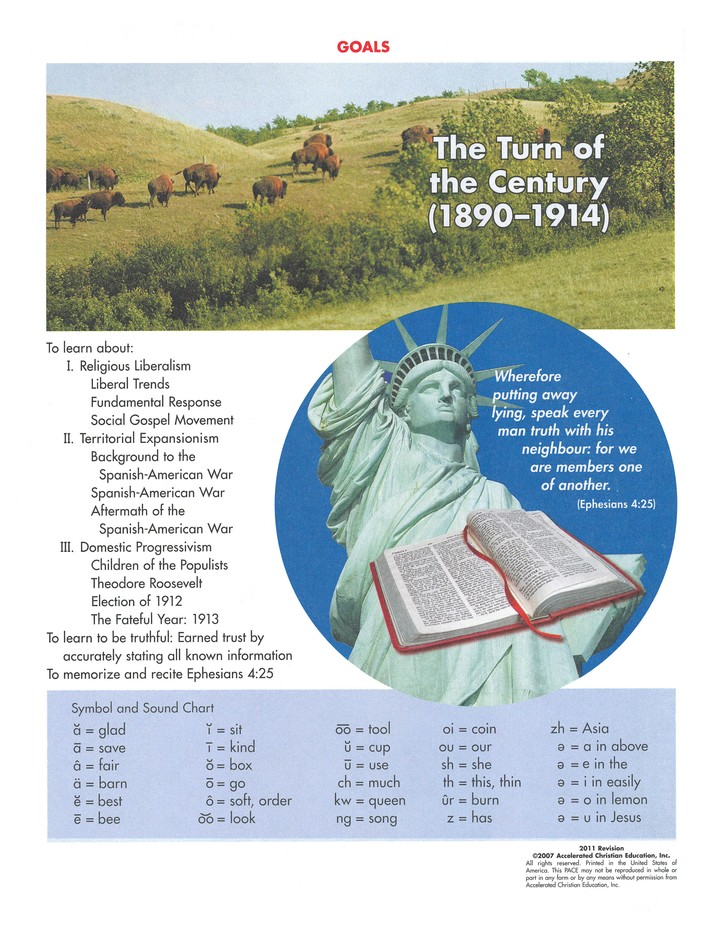 4th Edition American History PACE 1130