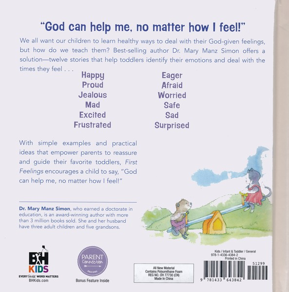 First Feelings 12 Stories For Toddlers Mary Manz Simon