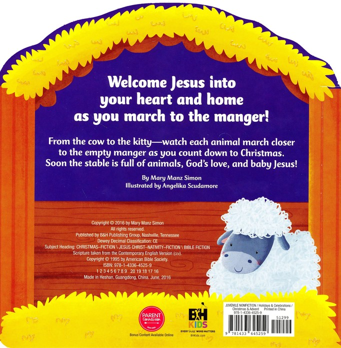My March To The Manger And The True Story Of Christmas Mary Manz