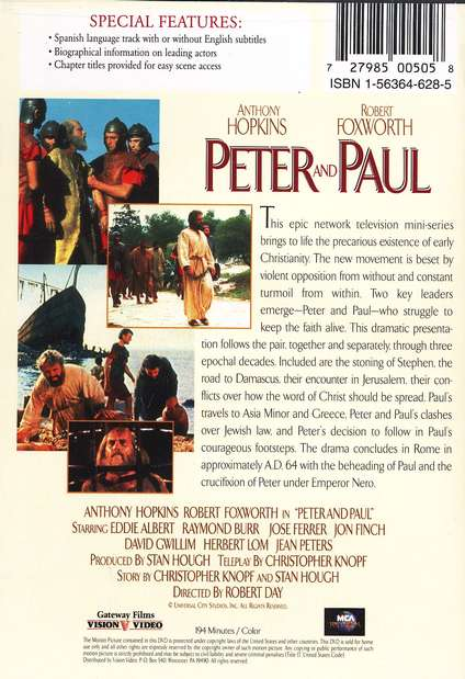 Peter and Paul, DVD