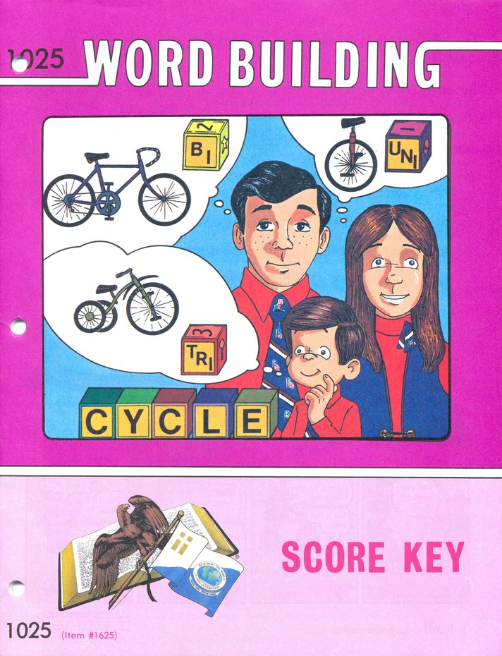 Grade 3 Word Building SCORE Keys 1025-1036 (3rd Edition with 4th Edition Keys 1025, 1027-1036)