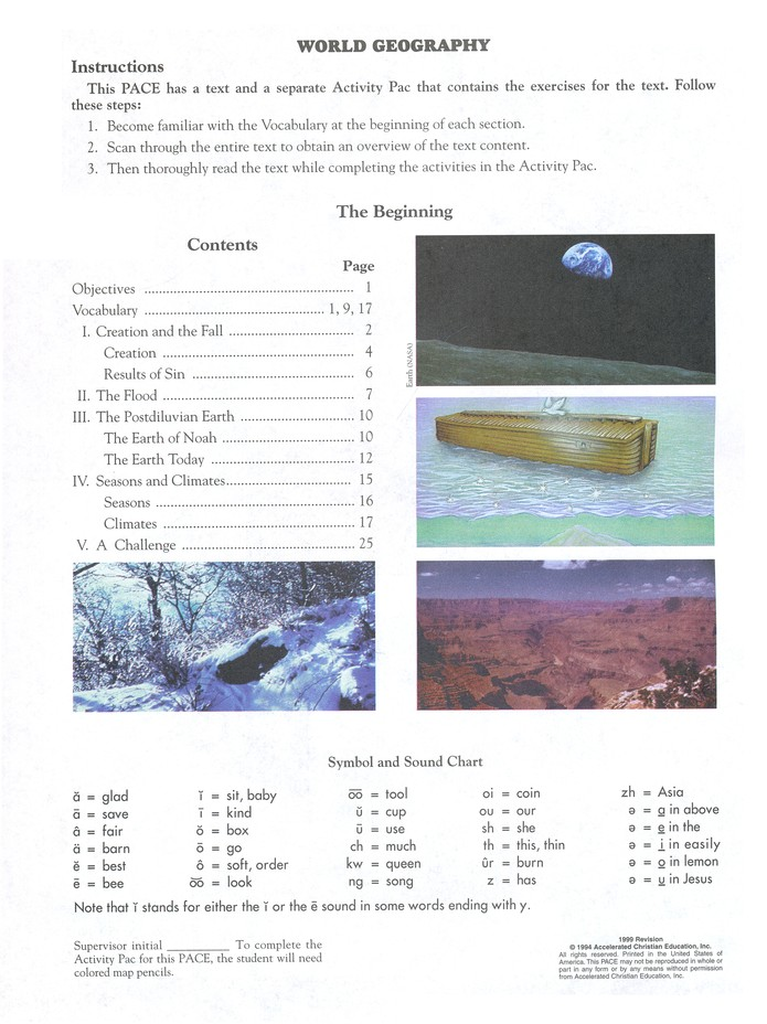 Grade 9 World Geography PACEs 1097-1108 (3rd Edition)