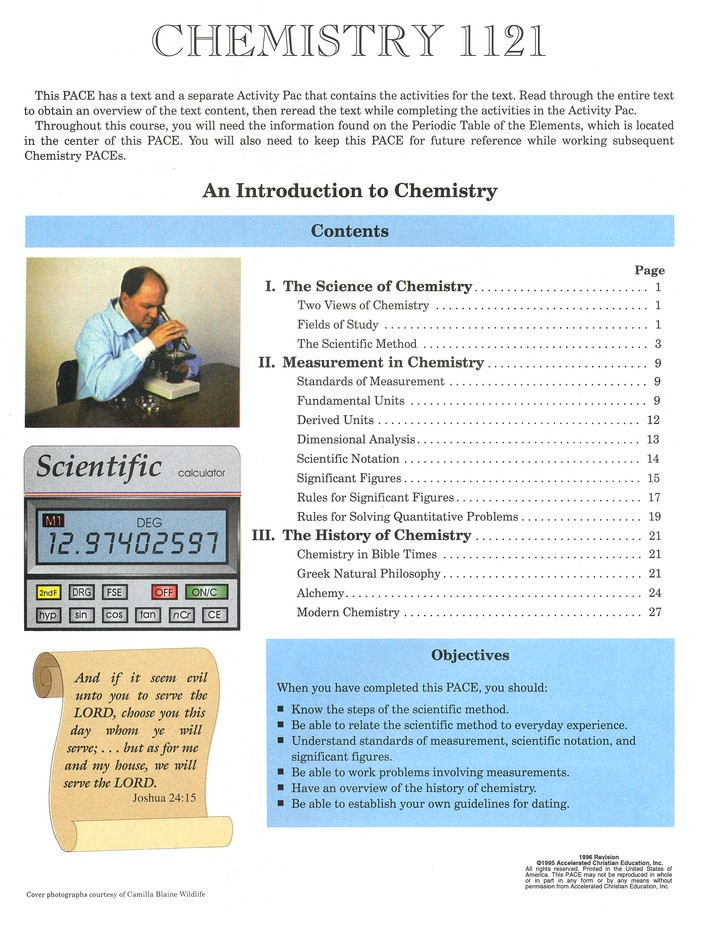 Grade 11 Chemistry PACEs 1121-1132 (3rd Edition)