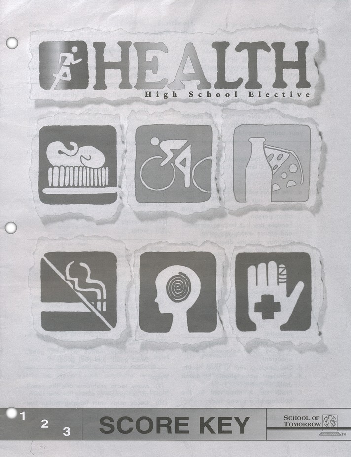 High School Health Elective: Health SCORE Keys 1-6