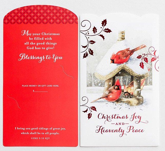Christmas Joy 10 Money Or Gift Card Holder Marjolein Bastin Christianbook Com