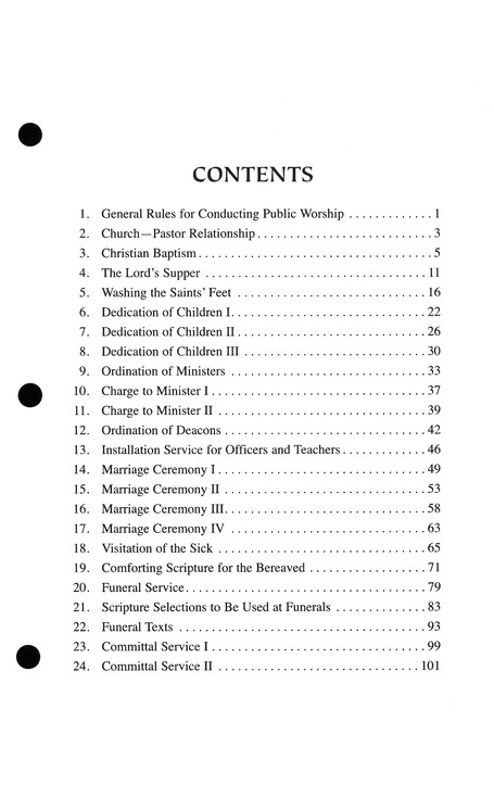 Randall House Minister's Manual