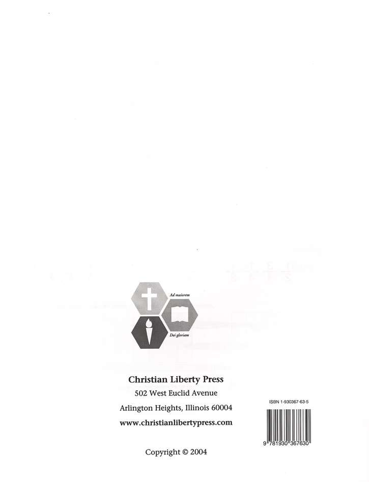 Liberty Math Level A, Teacher's Manual, Grade 1