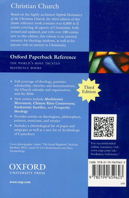 The Concise Oxford Dictionary of the Christian Church, Third Edition